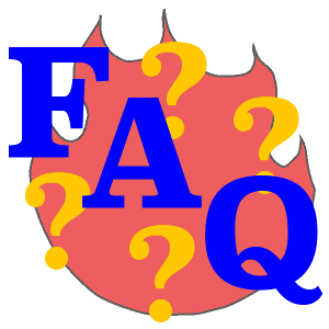 "IMAGE DESCRIPTION: The flame representing the Logos is shown (faded) in the background - while the big blue letters ""FAQ"" feature diagonally in the foreground. A number of yellow question marks also populate the image. This image is meant as a featured images for articles in this blog that are installments in the site's FAQ (Frequently Asked Questions document) on Stoicism."